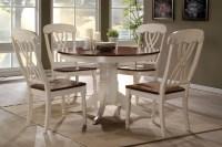 42 Lander Oak Buttermilk Round Kitchen Table Set | Table for 4