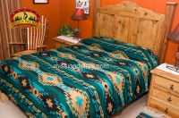 Southwest Indian Style Bedspread Navajo Pattern Queen