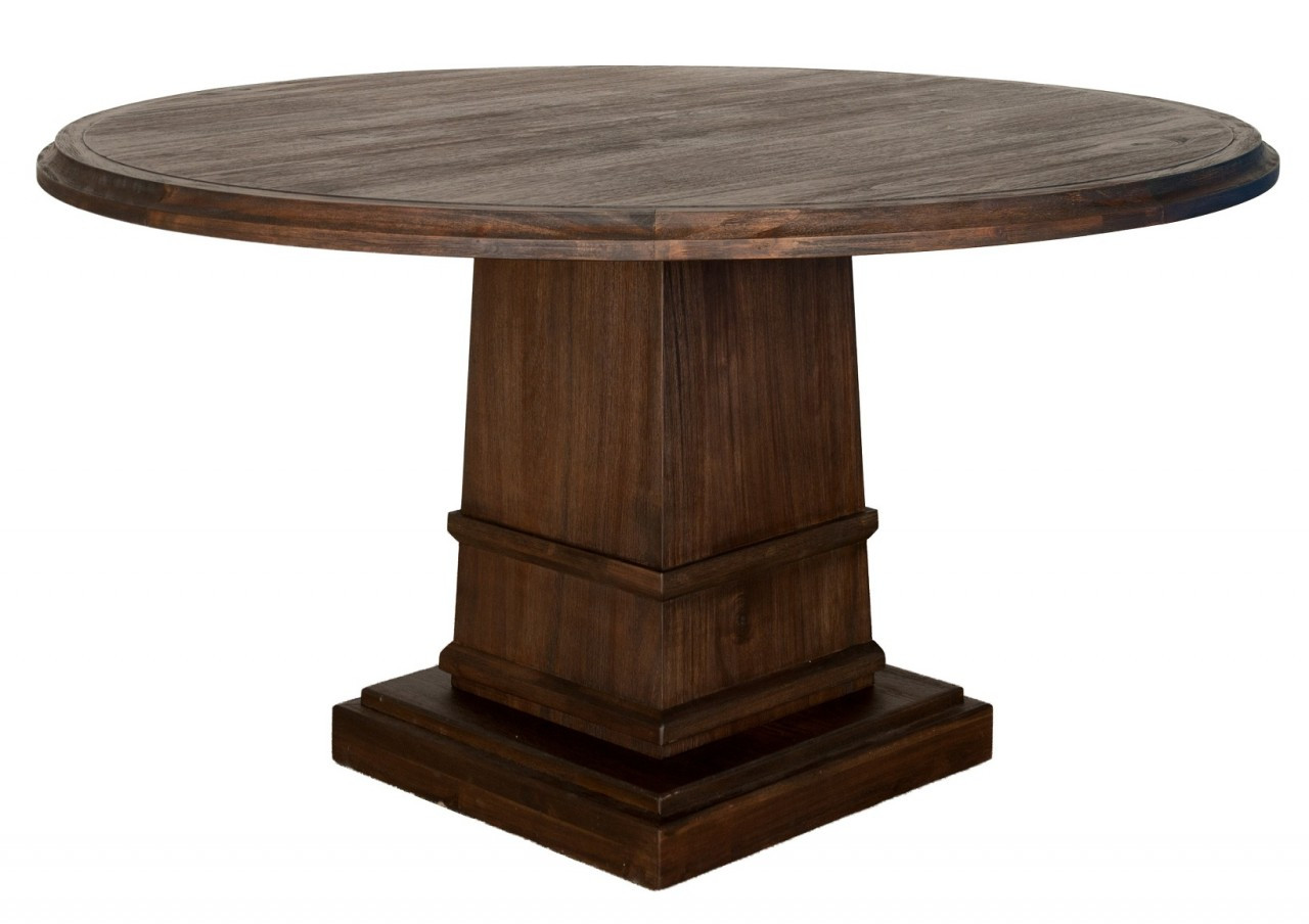 """Hudson 60"""" Round Dining Table With Column Base"""