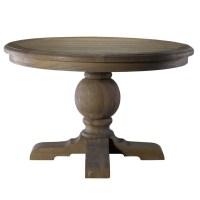 "Kingdom Oak Wood Round Pedestal Dining Table 48"" | Zin Home"