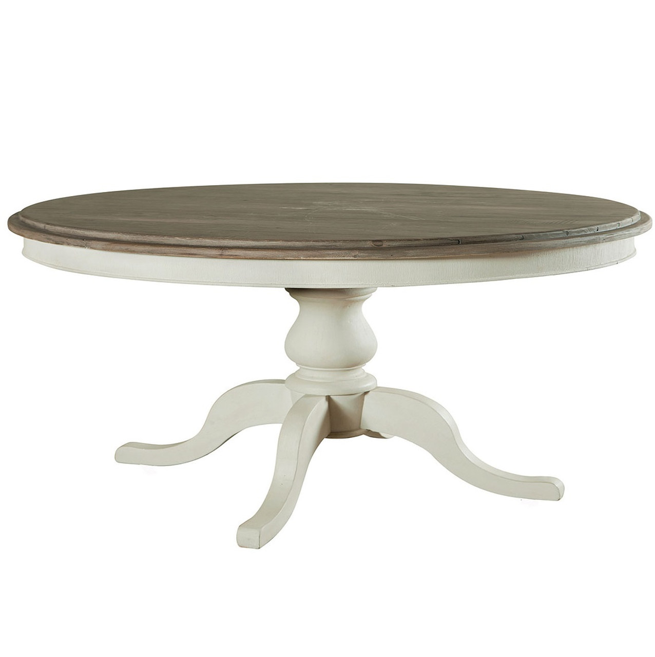 "Cottage 60"" Pedestal White Kitchen Table Zin Home"
