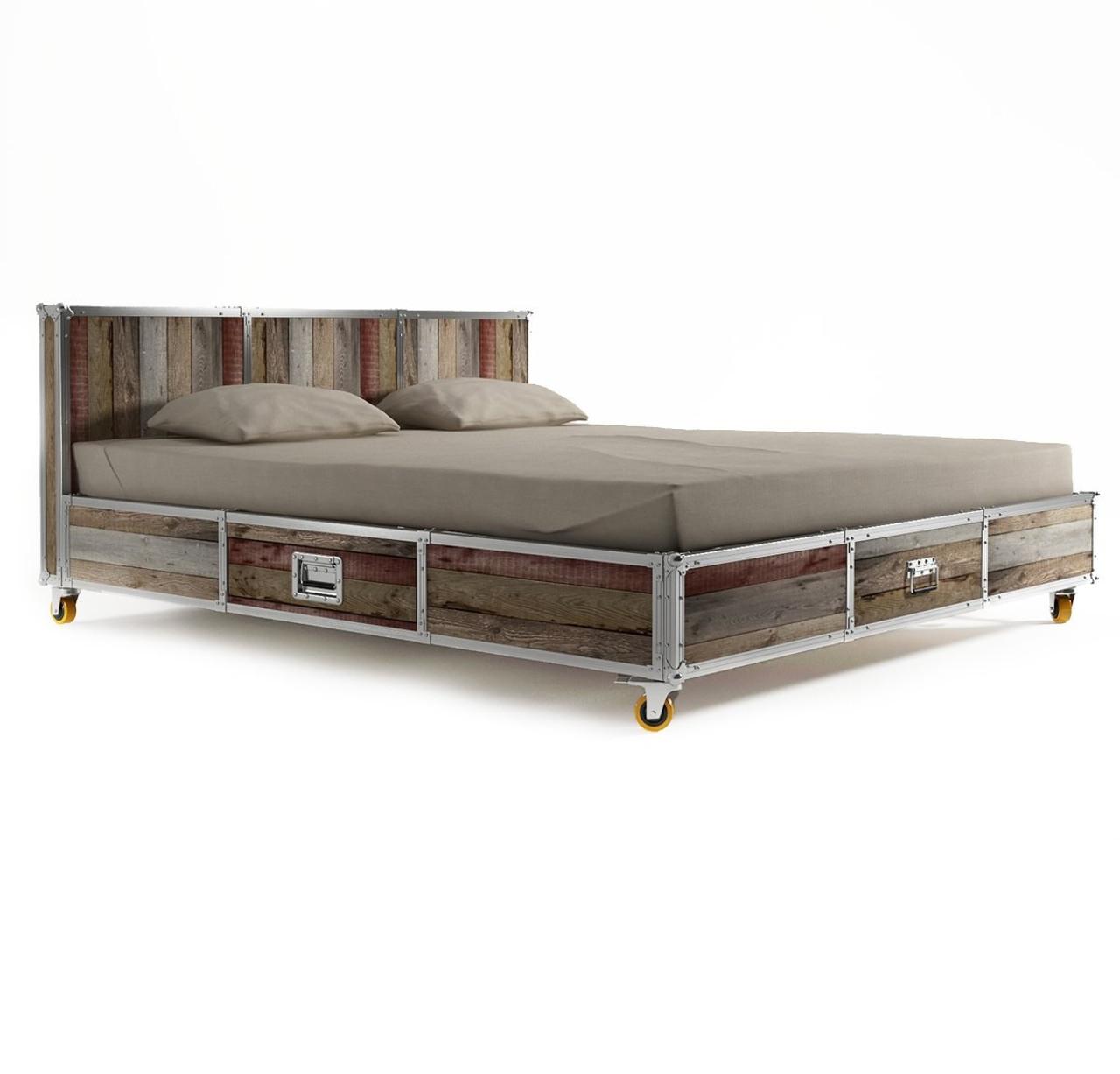 King Size Platform Bed Frame with Storage