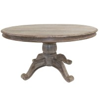 Hampton Rustic Round Pedestal Dining Table 60"