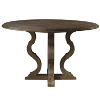 """French Grey Oak Wood Round Pedestal Dining Table 50"""" 