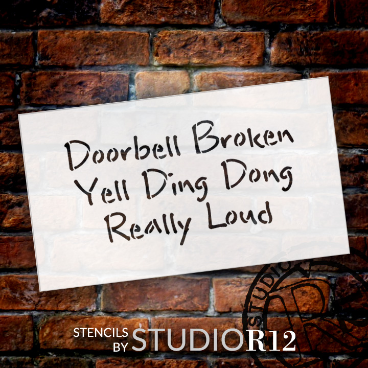 Printable Stencils Doorbell Broken