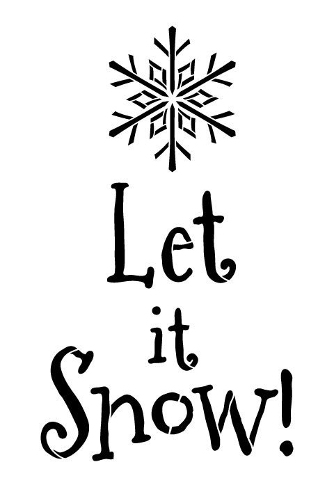 chris and kitchen cart vintage appliances let it snow with snowflake word art - 8