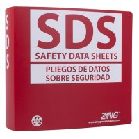 SDS Binder, English/Spanish, stores 600 sheets | Zing
