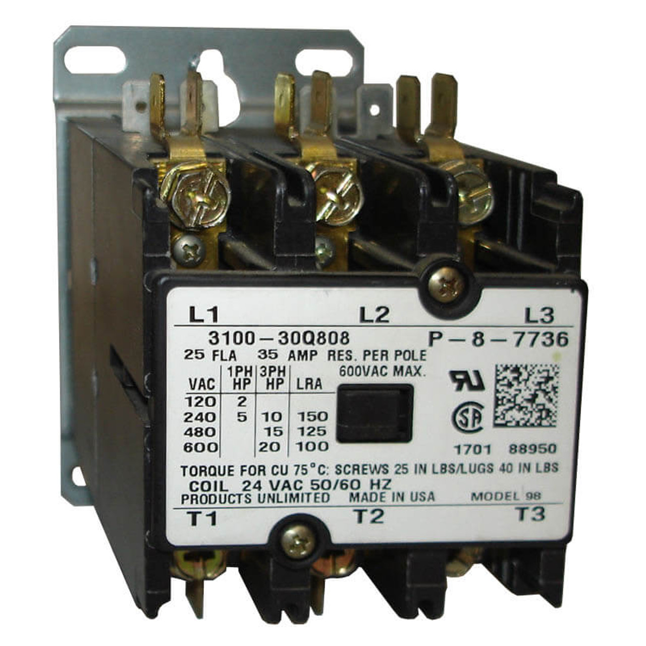 Power Wiring Diagram Additionally 3 Pole Contactor Wiring Diagram