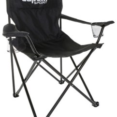 Sport Folding Chairs Canvas Chair Covers Nz Capelli With Cup Holder Black Image 1