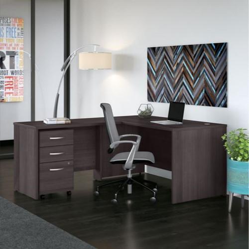 Bush BBF Studio C L Shaped Desk Package STC008SG Free Shipping!
