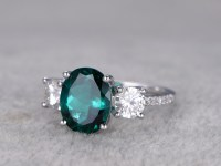 2.5 Carat Emerald Diamond Engagement Ring Moissanite ...