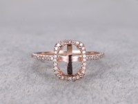 6x8mm Diamond Engagement Ring Settings Rose Gold Oval Cut ...