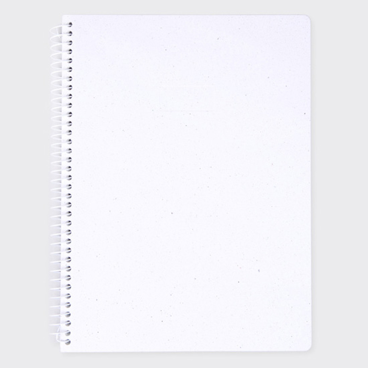SOSOMOONGOO Starry white spiral plain notebook  fallindesign