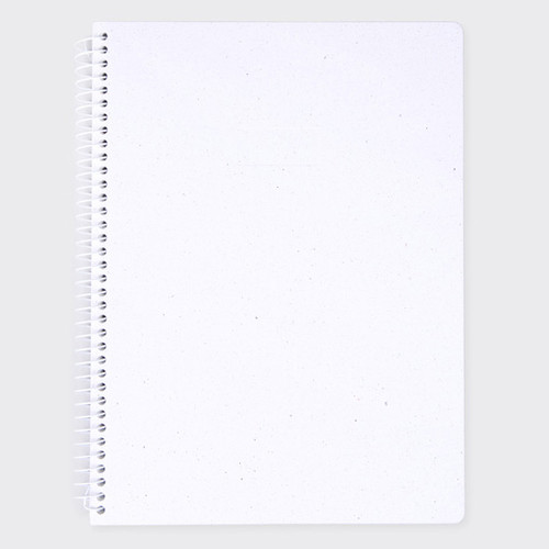 SOSOMOONGOO Starry white spiral plain notebook  fallindesign