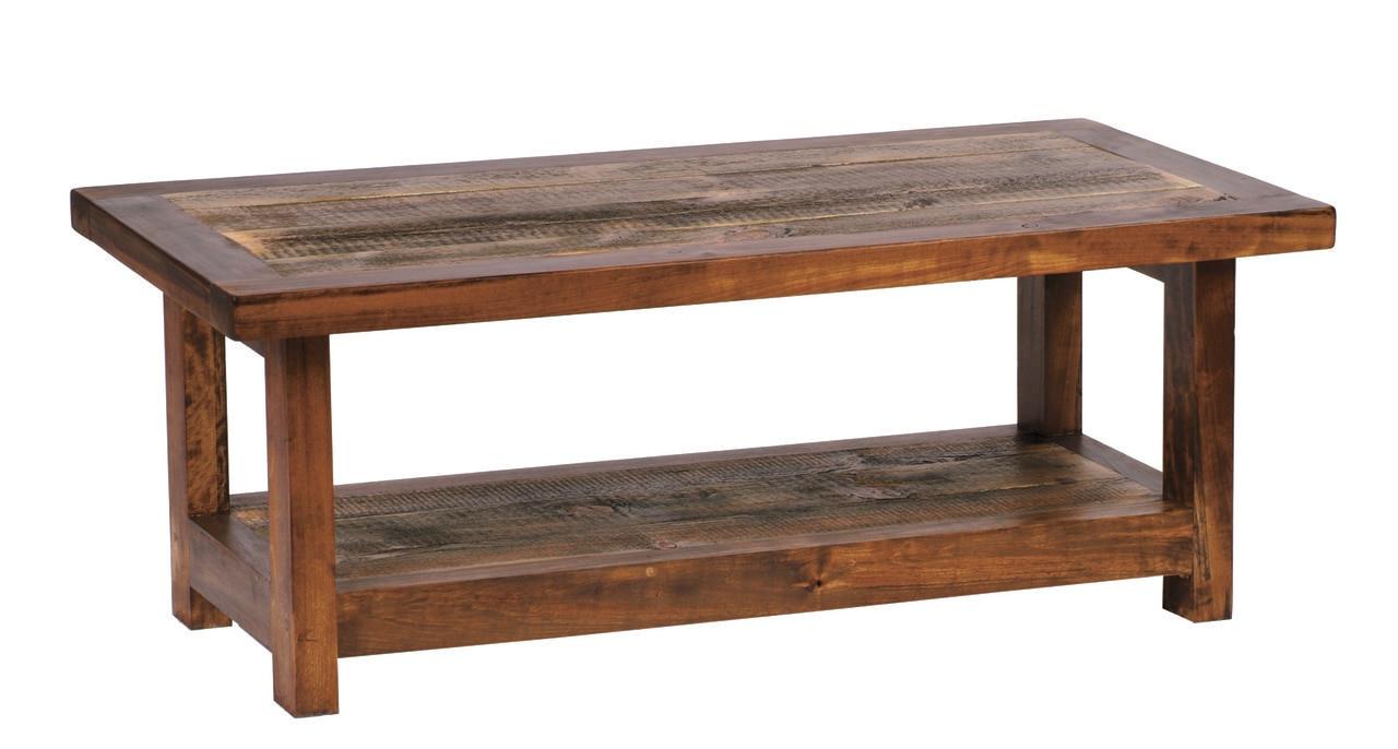 Reclaimed Wood Coffee Table Rustic Barnwood 48x24