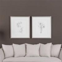 Uttermost Botanical Sketches Framed Prints S/2 ...