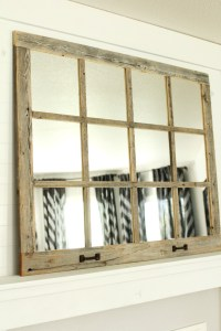 Farmhouse Windowpane Mirror | 12 Panes | Rustic Reclaimed Wood