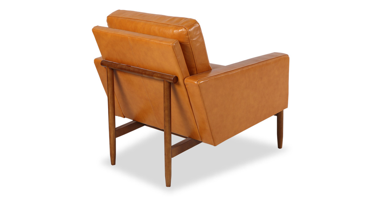 chair design back angle lewis and clark camping chairs stilt danish mod tan aniline leather walnut kardiel the is architecturally suspended within a solid wood frame base body of platform minimal sleek with clean