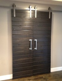 Double Door sliding Barn Door Hardware Kit - The Barn Door ...