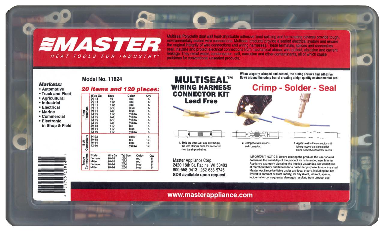 medium resolution of multiseal assortment kits model 11824 multiseal wiring harness connector kit