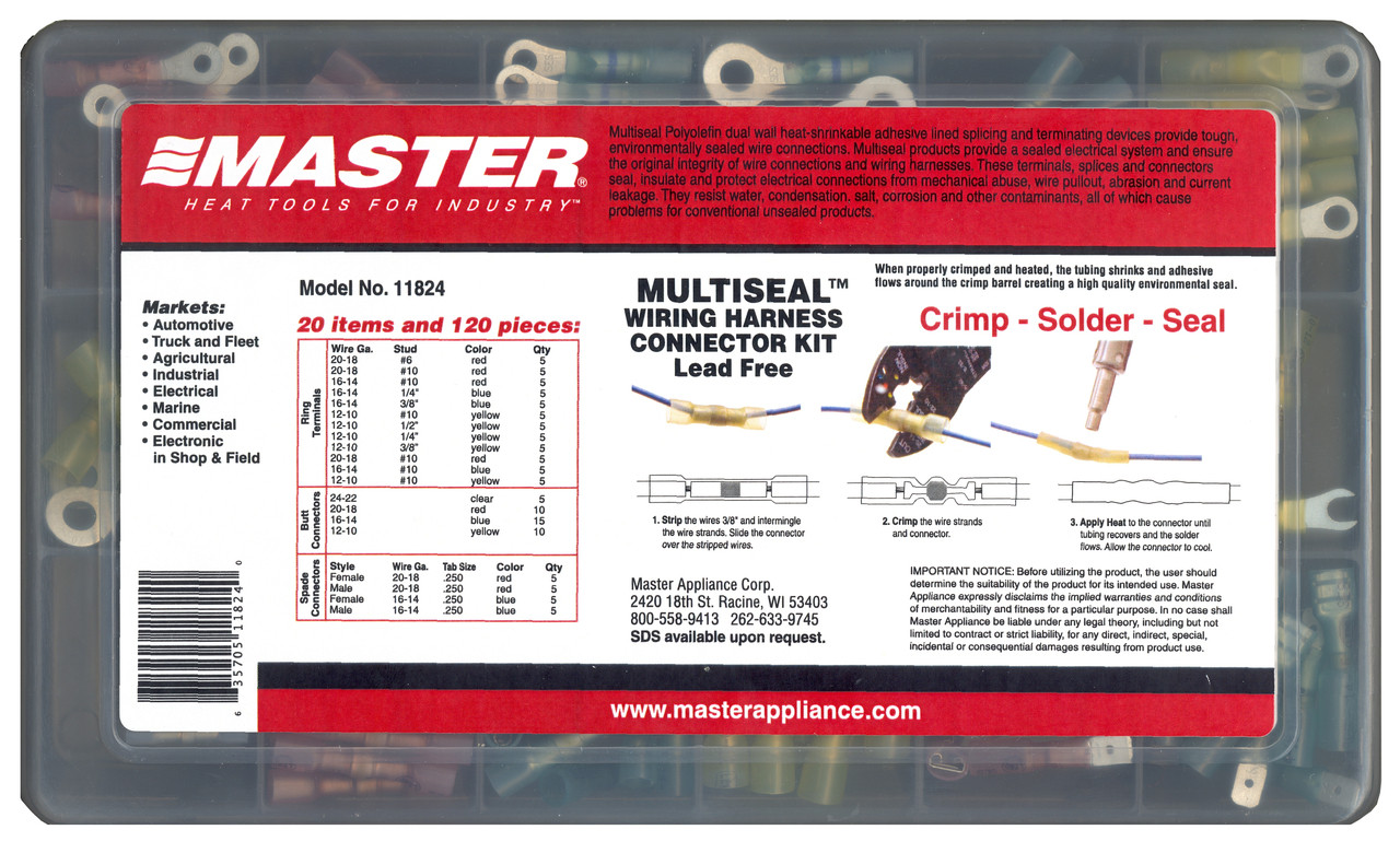 small resolution of multiseal assortment kits model 11824 multiseal wiring harness connector kit