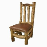 Rustic Furniture Log Leather Chair