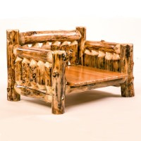 Rustic Furniture Log Dog Bed