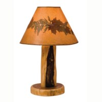 Log Furniture Rustic Table Lamp Without Shade