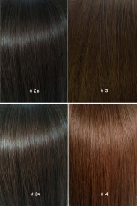 Hair dye color chart brown t