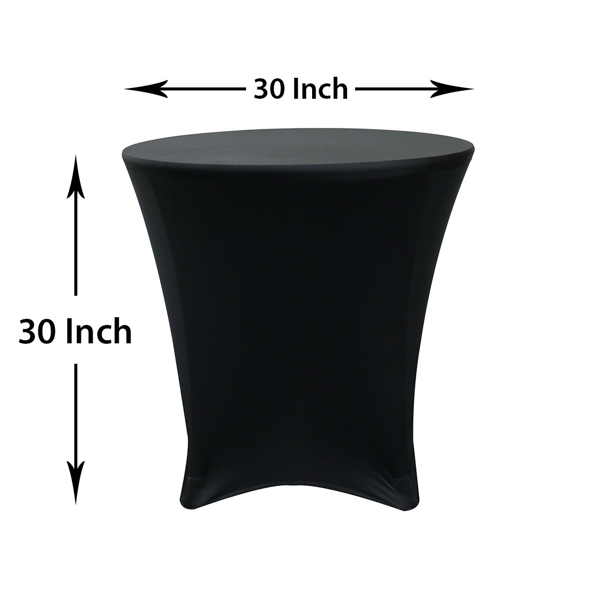 low cost chair covers under table 30 x inch round spandex highboy cocktail