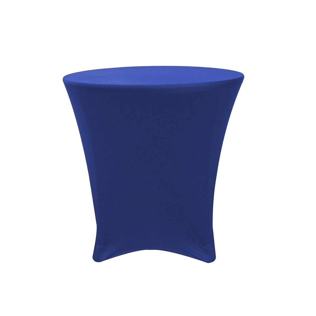 royal blue chair covers x rocker chairs 30 inch lowboy cocktail round stretch spandex table