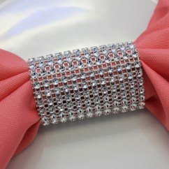 Burlap Chair Covers For Sale Grey And Ottoman Dazzling Diamond Rhinestone Sash Slip / Napkin Rings Silver - Your Inc.