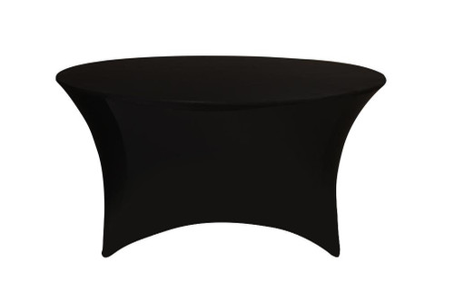 black spandex chair covers for sale stool autocad stretch 5 ft round table cover - your inc.