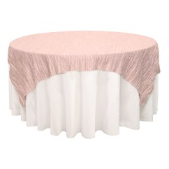 Your Chair Covers Inc Reviews Outdoor Bar Height Chairs 90 Inch Square Crinkle Taffeta Table Overlay Blush