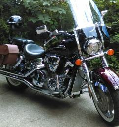 07 honda vtx w odin series leather saddlebags  [ 1050 x 889 Pixel ]