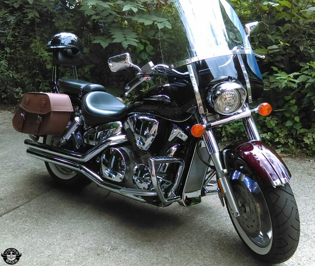 hight resolution of  07 honda vtx w odin series leather saddlebags