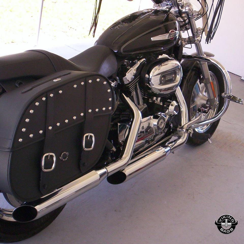 medium resolution of  fred s harley davidson sportster 1200 custom w spear saddlebags