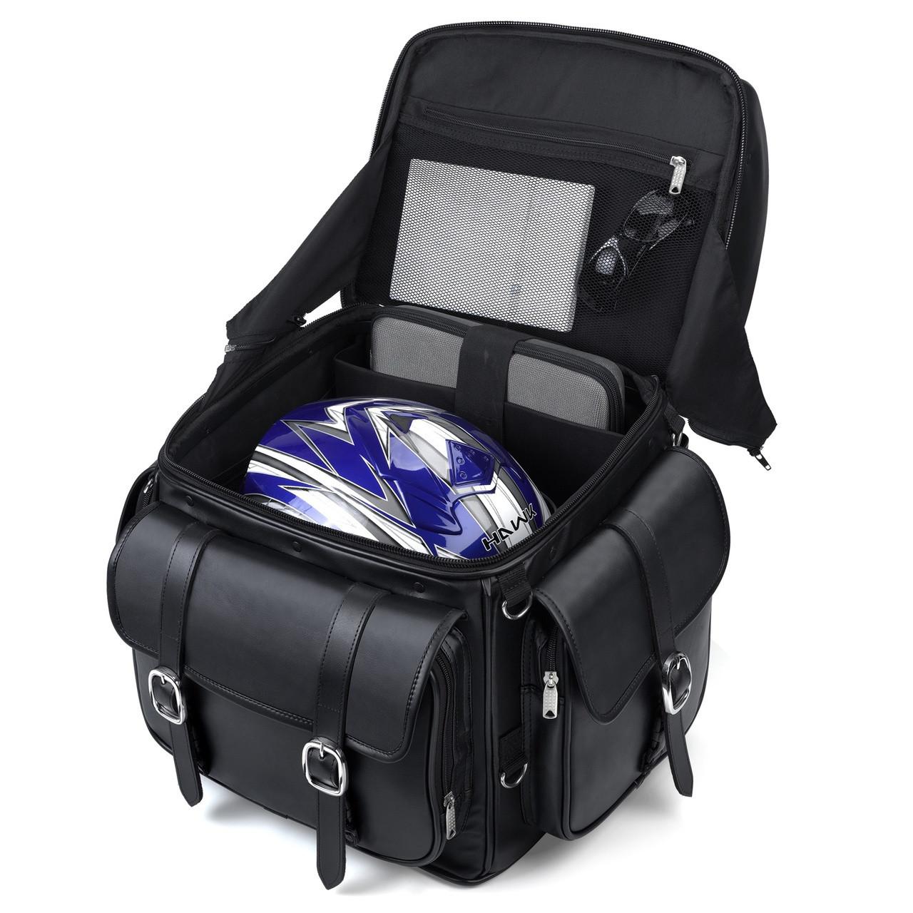 Harley Davidson Leather Backrest Motorcycle Sissy Bar Bag
