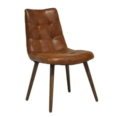 Leather Tufted Dining Chair Small Recliner Chairs Uk Havana