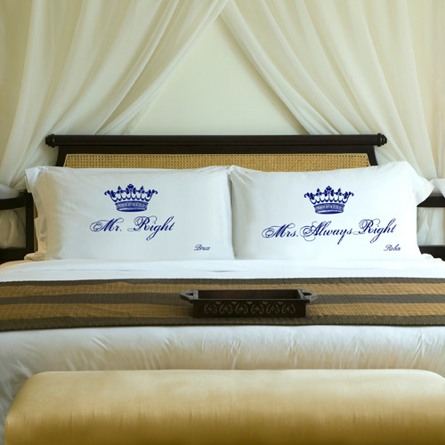 Personalized Mr  Mrs Always Right Pillow Cases from Top