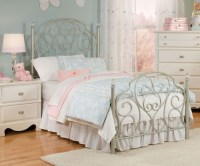 Spring Rose Metal bed for girls | Twin Size Bed with ...