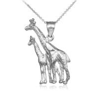 925 Sterling Silver Giraffe Pendant