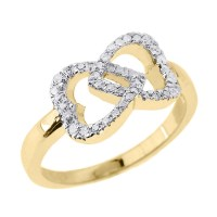 Gold Diamond Infinity Ring