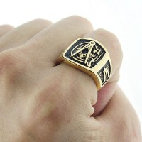 Masonic rings ebay Freemason Ring. Gold Plated Steel G