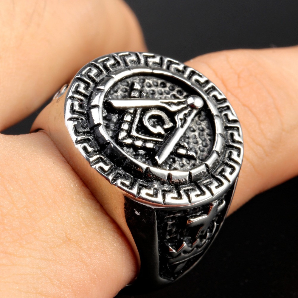 Masonic Rings Stainless Steel Ring With