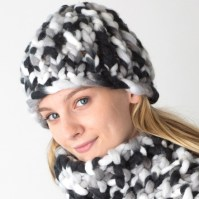 Woolly Hat and Scarf - http://www.knittingboard.com/