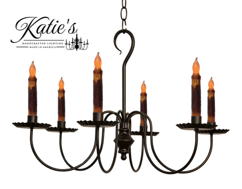 Katie S Handcrafted Lighting Wil Candle Chandelier Finished In Aged Black Finish