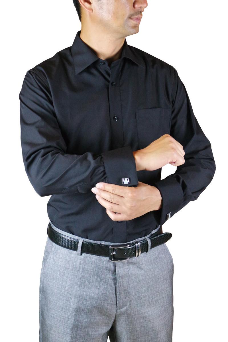 Black French Cuff Dress Shirt