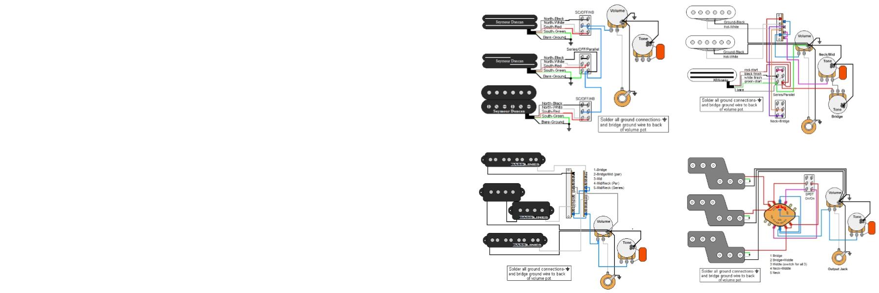 Guitar Electronics Parts & Wiring Diagrams
