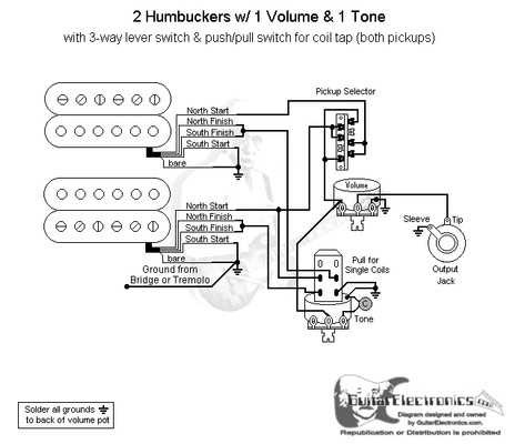 guitar wiring diagram 2 pickup 1 volume tone fender lace sensor pickups way lever switch with humbuckers schematic 5way 06